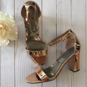 Worthington Rose Gold Pumps With Block Heel